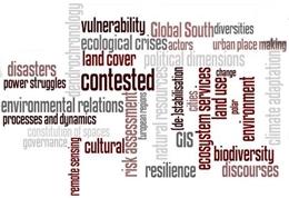 Wordcloud zum Forschungsschwerpunkt Kulturgeographie